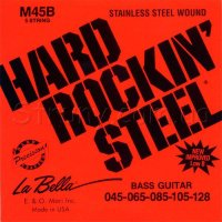 La Bella M45B Stainless Steel Bass Strings 45/128