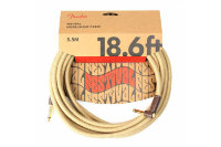 Fender 18.6' ANGLED FESTIVAL INSTRUMENT CABLE PURE HEMP NATURAL Кабель инструментальный