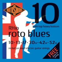 Rotosound RH10 Nickel Electric Guitar Strings 10/52