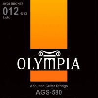 Olympia AGS-580 80/20 Bronze Acoustic Guitar Strings Light 12/53