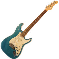 G&L COMANCHE (Emerald Blue. 3-Ply Pearl. Rosewood). № CLF43398