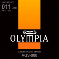 Olympia AGS-900 80/20 Bronze Acoustic Guitar Strings Extra Light 11/50