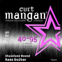 Curt Mangan 42401 Extra Light Stainless Wound Extra Bass Strings 40/95