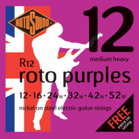 Rotosound R12 Nickel Electric Guitar Strings 12/52