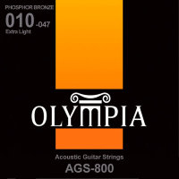 Olympia AGS-800 Phosphor Bronze Acoustic Guitar Strings Extra Light 10/47