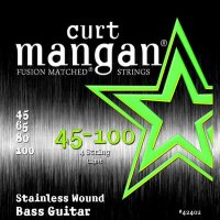 Curt Mangan 42402 Light Stainless Wound Bass Strings 45/100
