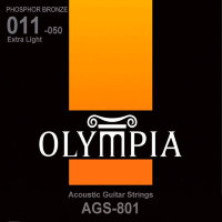 Olympia AGS-801 Phosphor Bronze Acoustic Guitar Strings Extra Light 11/50
