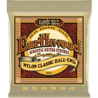 Ernie Ball 2069 Earthwood Folk Nylon Ball End Clear and Gold