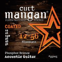 Curt Mangan 35005 Bluegrass PhosPhor Bronze Coated Acoustic Guitar Strings 12/56