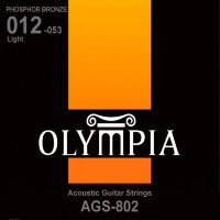 Olympia AGS-802 Phosphor Bronze Acoustic Guitar Strings Light 12/53
