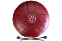 PALM PERCUSSION METAL TONGUE DRUM 8 LEAFS SPOT RED DOFF Глюкофон