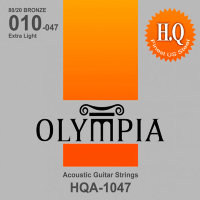Olympia HQA-1047 80/20 Bronze Acoustic Guitar Strings Extra Light 10/47