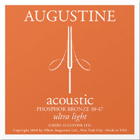 Augustine PB1047 Acoustic Guitar Strings Ultra Light 10/47