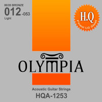 Olympia HQA-1253 80/20 Bronze Acoustic Guitar Strings Light 12/53