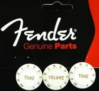 Fender Stratocaster Knobs – White 0992035000