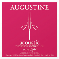 Augustine PB1152 Acoustic Guitar Strings Extra Light 11/52