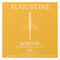Augustine PB1253 Acoustic Guitar Strings Light 12/53