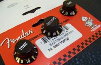 Fender Stratocaster Knobs – Black 0991365000