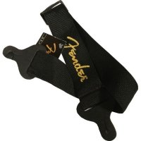 Fender STRAP 2 BLACK YELLOW LOGO Ремень