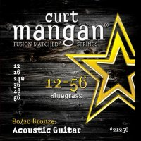 Curt Mangan 21256 Bluegrass 80/20 Bronze Acoustic Guitar Strings 12/56