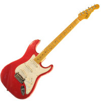 G&L LEGACY (Candy Apple Red, Maple, 3-Ply Pearl)