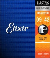 Elixir 12002 Nanoweb Nickel Plated Steel Super Light 9/42