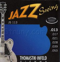 Thomastik-Infeld JS113 Jazz Swing Medium Flatwound Electric Guitar Strings 13/53