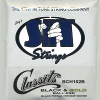 SIT BCH102B Folk Classits Ball End High Tension Classical Guitar Strings (Black & Gold)