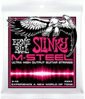 Ernie Ball 2923 M-Steel Super Slinky Electric Guitar Strings 9/42