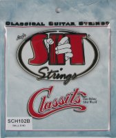 SIT SCH102B Folk Classits Ball End High Tension Classical Guitar Strings  (Clear & Silver)