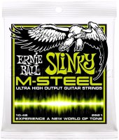 Ernie Ball 2921 M-Steel Regular Slinky Electric Guitar Strings 10/46