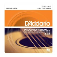 D'Addario EJ15 Phosphor Bronze Extra Light Acoustic Guitar Strings 10/47