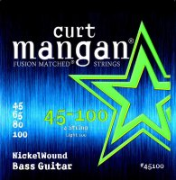 Curt Mangan 45100 Light Nickel Wound Bass Strings 45/100
