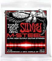Ernie Ball 2915 M-Steel Top Heavy Bottom Slinky Electric Guitar Strings 10/52