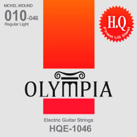 Olympia HQE-1046 Regular Light Nickel Plated Steel Electric Guitar Strings 10/46