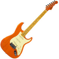 G&L LEGACY (Clear Orange, 3-Ply Vintage Creme, Maple)