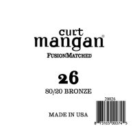 Curt Mangan 20026 26 Bronze 80/20 Wound Ball End
