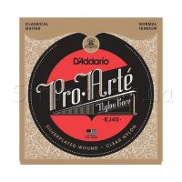 D'Addario EJ45 Classical Silverplated Wound Nylon Normal Tension