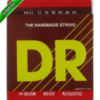 DR HA-11 Hi-Beam 80/20 Medium-Lite Acoustic Bronze Guitar Strings 11/50