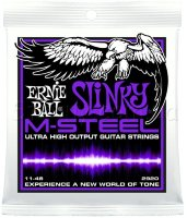 Ernie Ball 2920 M-Steel Power Slinky Electric Guitar Strings 11/48