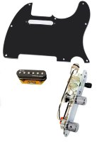 Fender Telecaster Loaded Pickguard Fender Gen4 Noiseless Pickups W/Switch BK