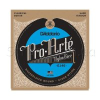 D'Addario EJ46 Classical Silverplated Wound Nylon Hard Tension