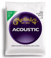 Martin M500 Traditional Acoustic 92/8 Phosphor Bronze Extra Light 12-String 10/47