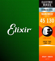 Elixir 14777 Nanoweb Coated Stainless Steel Medium-Light 5-Strings 45/130