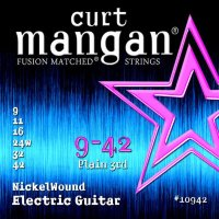 Curt Mangan 10942 Nickel Wound Electric Guitar Strings 9/42