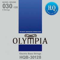 Olympia HQB-30128 Nickel Wound Long Scale Electric Bass 6-Strings 30/128