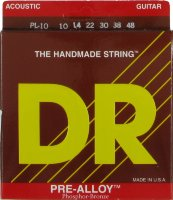 DR PL-10 PRE-ALLOY Acoustic Phosphor Bronze Light Guitar Strings 10/48