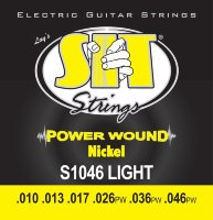 SIT S1046 Light Power Wound Nickel Electric Guitar Strings 10/46