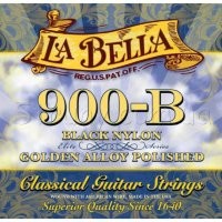 La Bella 900B Elite Black Nylon Polished Golden Alloy