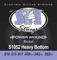 SIT S1052 Heavy Bottom Power Wound Nickel Electric Guitar Strings 10/52